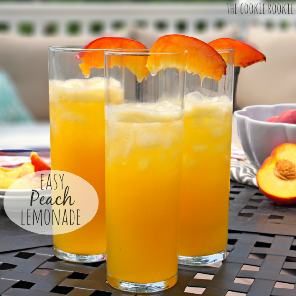 Easy Peach Lemonade (Adult Or Non-Alcoholic!) : Cocktails
