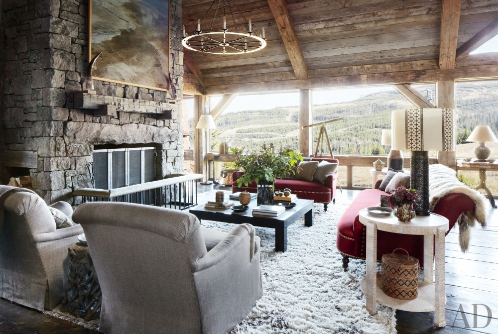 Rustic Living Room By Markham Roberts Inc By: Rustic Living Room By Markham Roberts Inc.